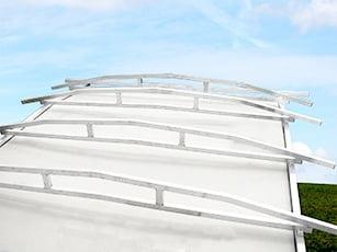 Wohnwagen Schutzdach mit verschweißten Aluträgern