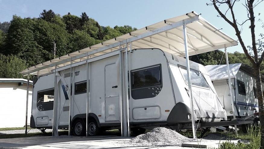 carports schutzd cher f r wohnmobile caravans wohnw gen. Black Bedroom Furniture Sets. Home Design Ideas