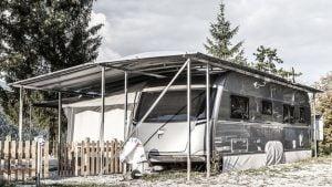 Wohnwagen Komplettüberdachung