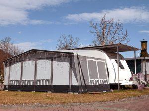 Schutzdach komplett mit Einzugszelt