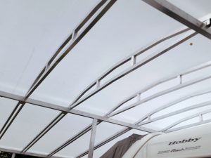 Schutzdachplane transparent